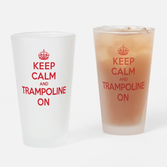 K C Trampoline On Drinking Glass