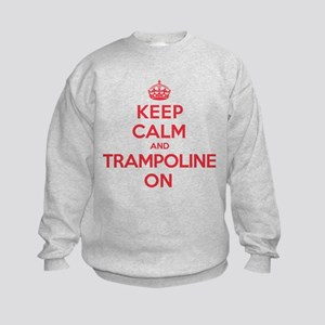 K C Trampoline On Kids Sweatshirt