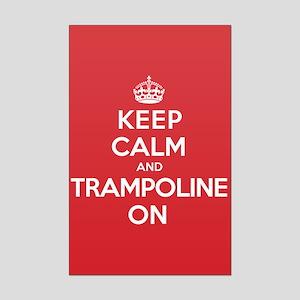 K C Trampoline On Mini Poster Print
