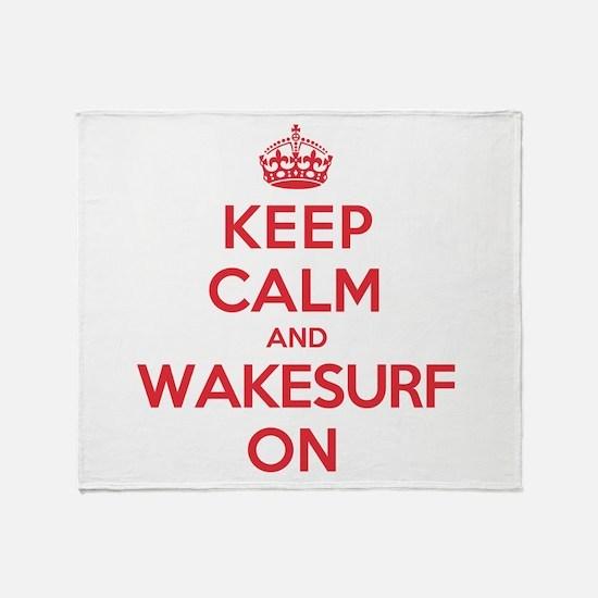 K C Wakesurf On Throw Blanket