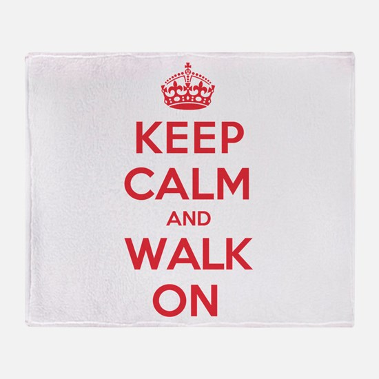 K C Walk On Throw Blanket