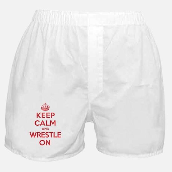 K C Wrestle On Boxer Shorts