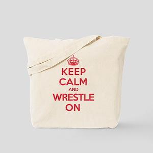 K C Wrestle On Tote Bag