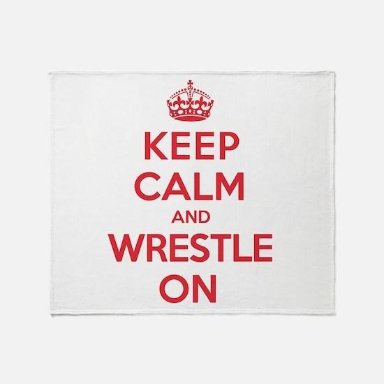 K C Wrestle On Throw Blanket