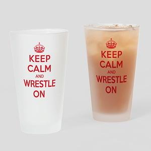 K C Wrestle On Drinking Glass