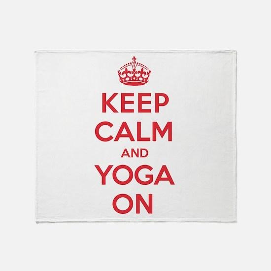 K C Yoga On Throw Blanket