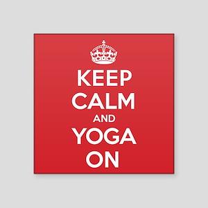 "K C Yoga On Square Sticker 3"" x 3"""