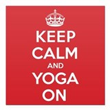 Keep calm and yoga on Square Car Magnets