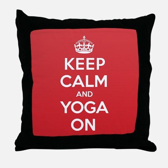 K C Yoga On Throw Pillow