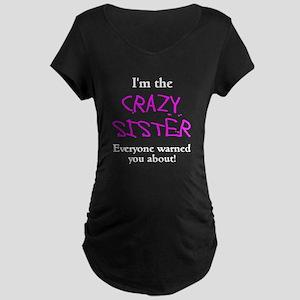 Im Crazy Sister Maternity Dark T-Shirt