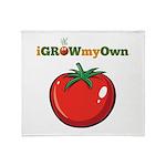 iGrowMyOwn: Tomato Throw Blanket