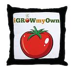 iGrowMyOwn: Tomato Throw Pillow