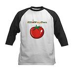 iGrowMyOwn: Tomato Kids Baseball Jersey