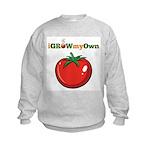 iGrowMyOwn: Tomato Kids Sweatshirt
