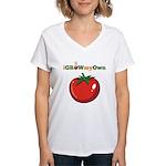iGrowMyOwn: Tomato Women's V-Neck T-Shirt