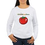 iGrowMyOwn: Tomato Women's Long Sleeve T-Shirt