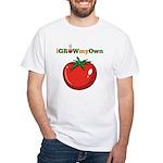 iGrowMyOwn: Tomato White T-Shirt