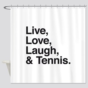 love and tennis Shower Curtain