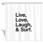 love and surf Shower Curtain