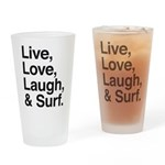 love and surf Drinking Glass
