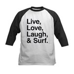 love and surf Kids Baseball Jersey
