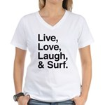 love and surf Women's V-Neck T-Shirt