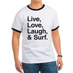 love and surf Ringer T