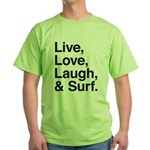 love and surf Green T-Shirt