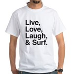 love and surf White T-Shirt
