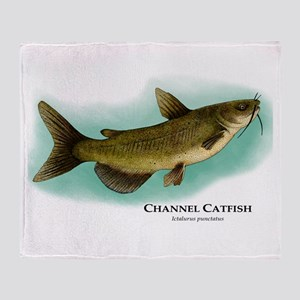 Channel Catfish Throw Blanket