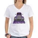 Trucker Michele Women's V-Neck T-Shirt