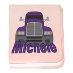 Trucker Michele baby blanket