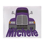 Trucker Michele Throw Blanket