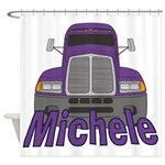 Trucker Michele Shower Curtain