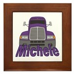 Trucker Michele Framed Tile