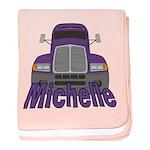 Trucker Michelle baby blanket
