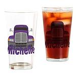 Trucker Michelle Drinking Glass
