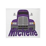 Trucker Michelle Throw Blanket