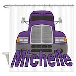Trucker Michelle Shower Curtain