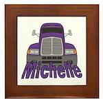 Trucker Michelle Framed Tile