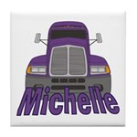 Trucker Michelle Tile Coaster