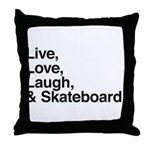 love and skateboard Throw Pillow