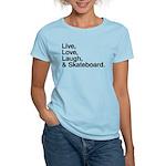 love and skateboard Women's Light T-Shirt