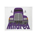 Trucker Mildred Throw Blanket