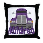 Trucker Mildred Throw Pillow