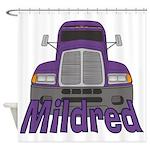 Trucker Mildred Shower Curtain