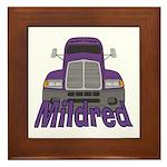 Trucker Mildred Framed Tile