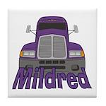 Trucker Mildred Tile Coaster