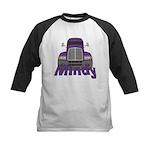 Trucker Mindy Kids Baseball Jersey