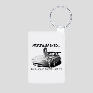 mx5unleashed Aluminum Photo Keychain